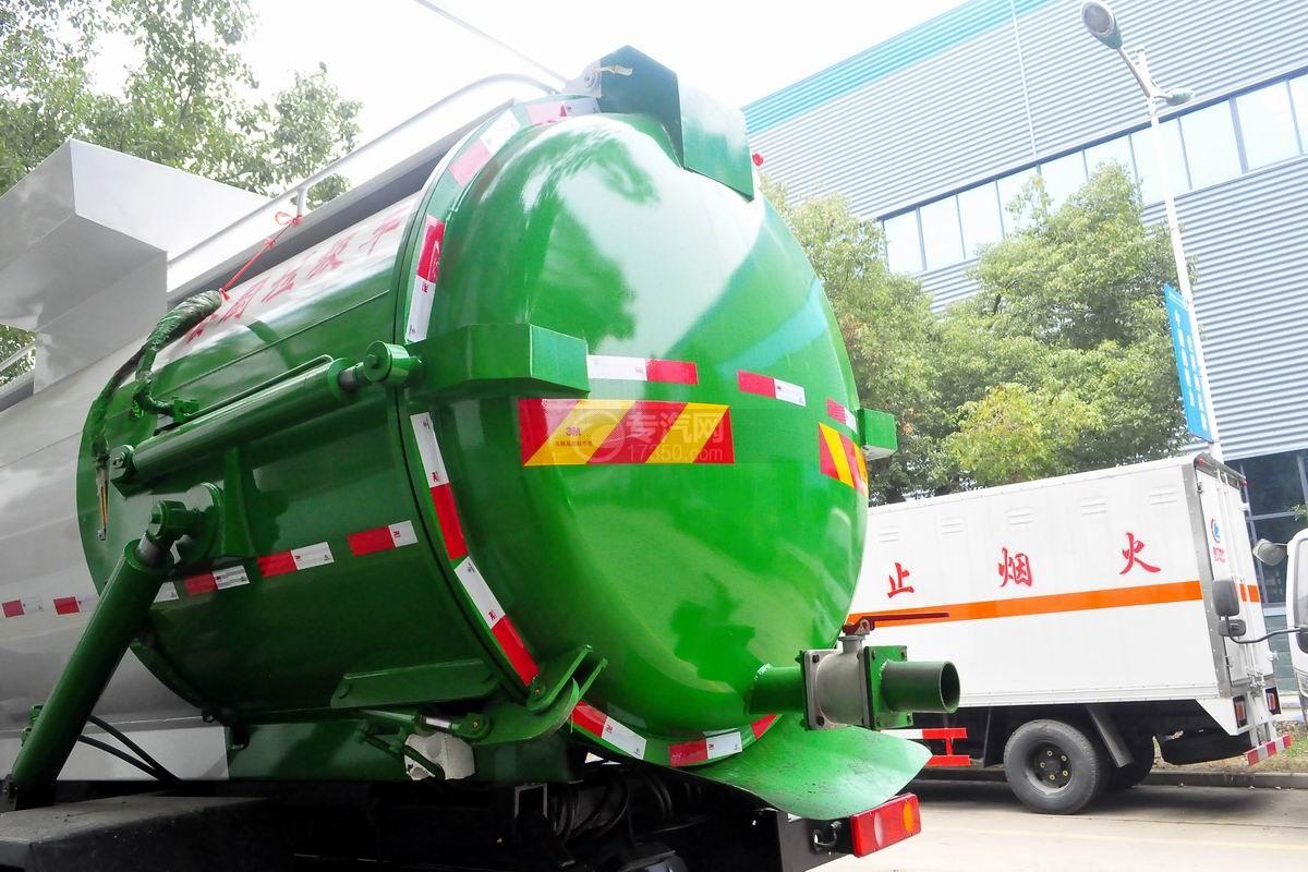 东风D913餐厨式垃圾车上装细节