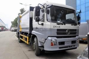东风天锦压缩式垃圾车(挂240升塑料桶)图片