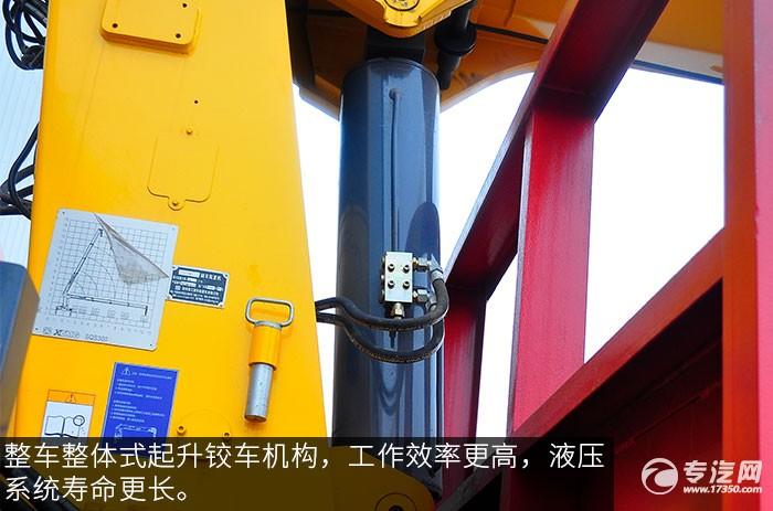 楚风前四后八12吨直臂随车吊评测之上装油缸
