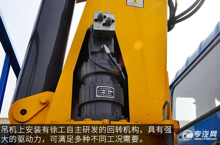 东风153小三轴徐工12吨直臂随车吊评测之上装油缸