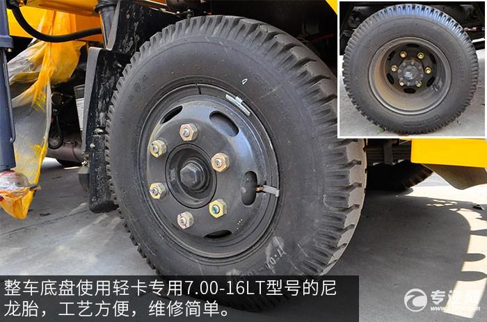 东风福瑞卡3吨徐工直臂随车吊评测之底盘轮胎