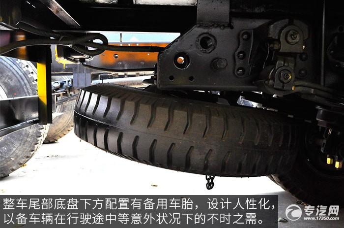 东风福瑞卡3吨徐工直臂随车吊评测之底盘备胎