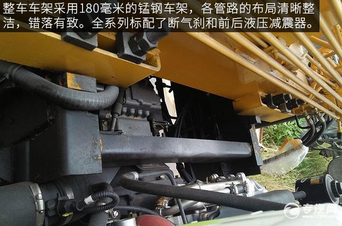 大运奥普力2吨直臂随车吊评测之底盘细节