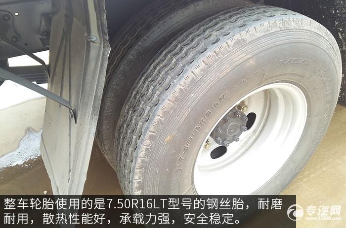 大运奥普力2吨直臂随车吊评测之底盘轮胎