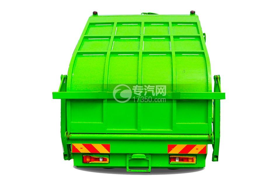 东风天锦压缩式垃圾车12-14方正后方图