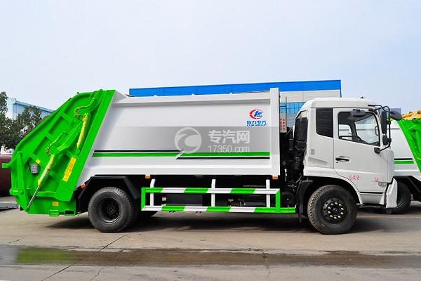东风天锦压缩式垃圾车12-14方侧面图