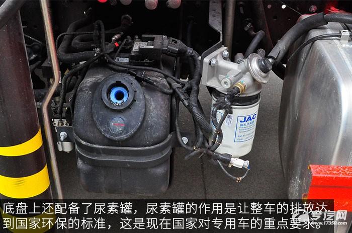 江淮骏铃希尔博4吨直臂随车吊评测之底盘尿素罐