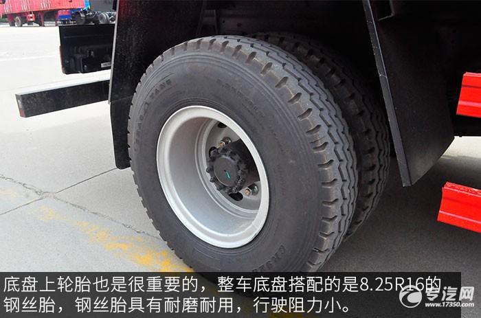 江淮骏铃希尔博4吨直臂随车吊评测之底盘轮胎