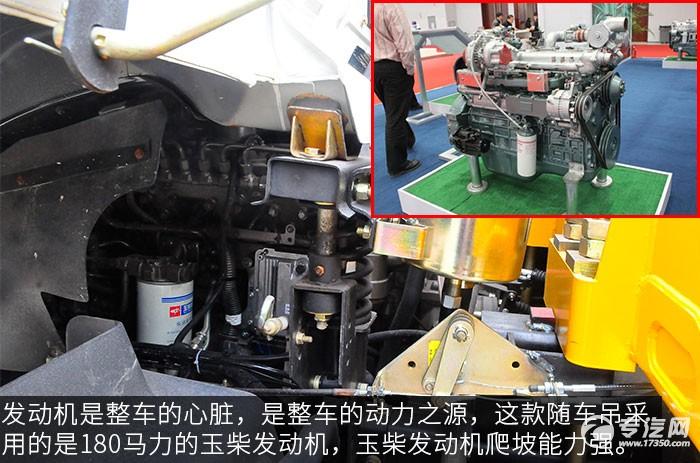 东风D913徐工6.3吨直臂随车吊评测之底盘发动机