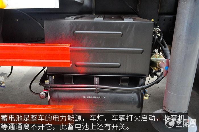 东风D913徐工6.3吨直臂随车吊评测之底盘蓄电池