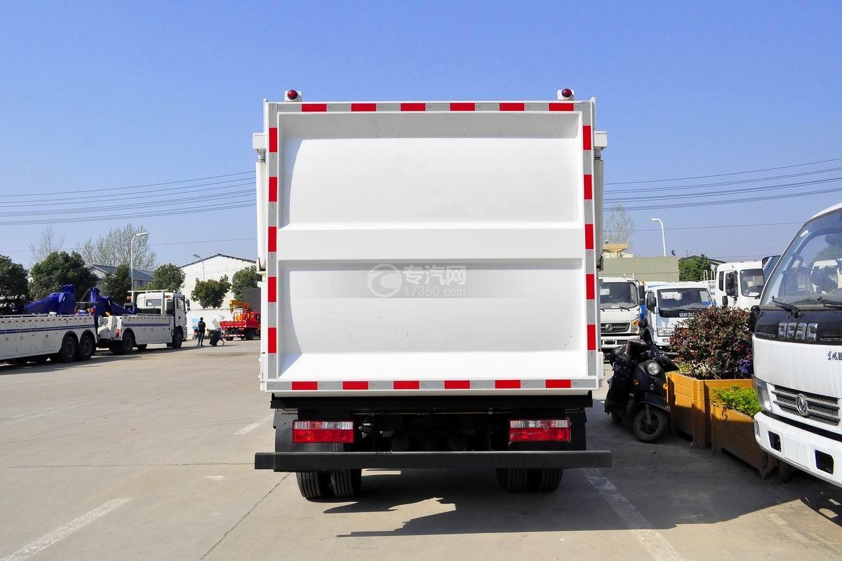 江淮骏铃E6自装卸式垃圾车正后方图