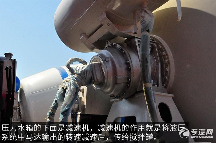 程力重卡后雙橋10方攪拌車液壓件