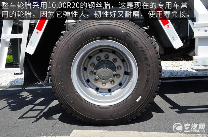 重汽王牌单桥3.25方混凝土搅拌车轮胎