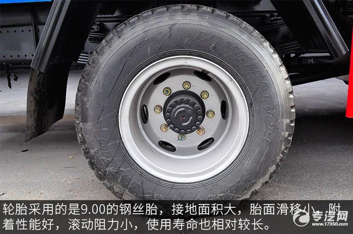 大运风度12方绿化喷洒车轮胎