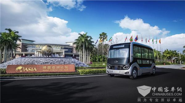 自动驾驶巴士博鳌论坛开放体验 谈宇通智能驾驶技术的领先