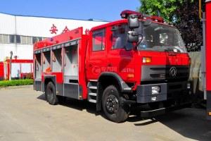 东风153双排座5.2方水罐消防车图片