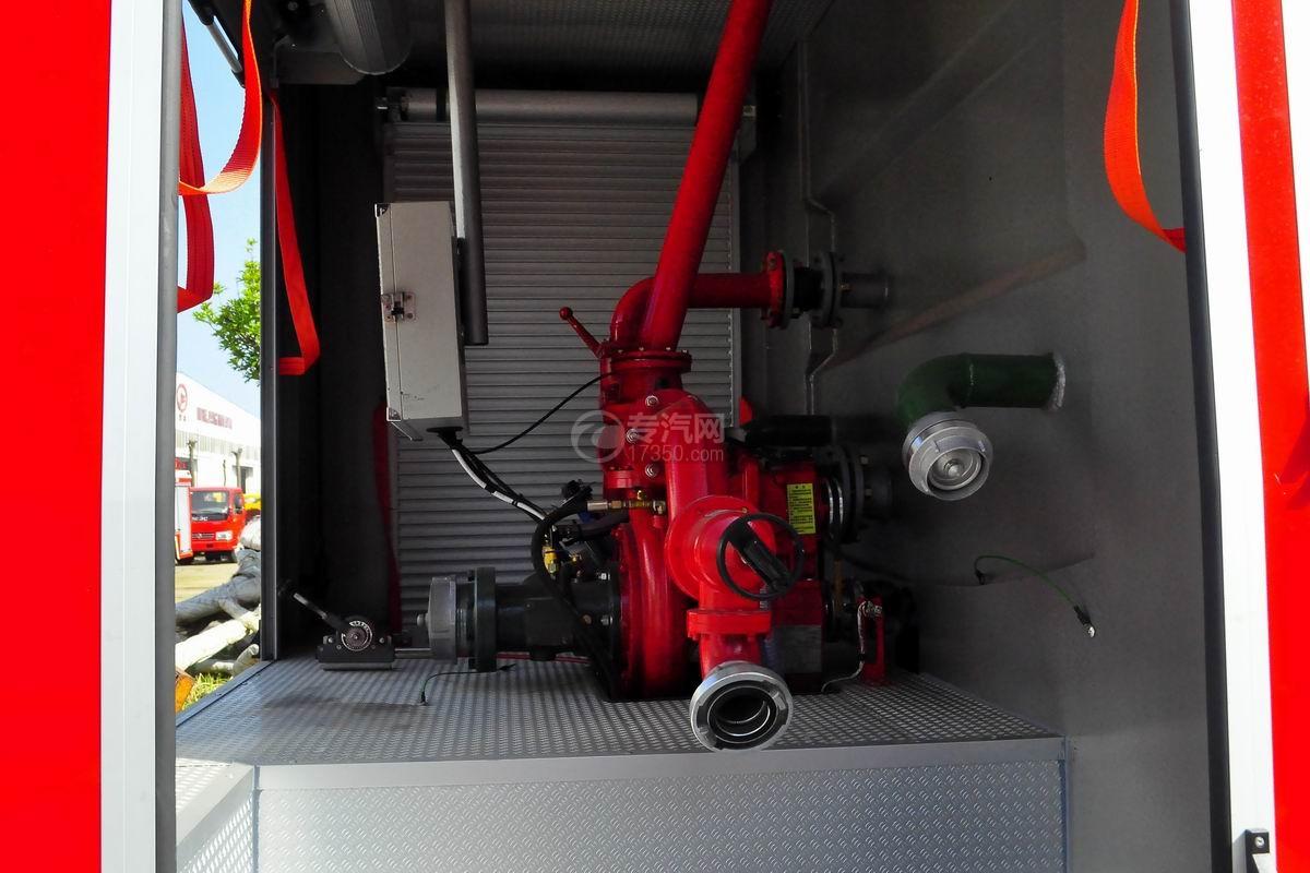 东风153双排座5.2方水罐消防车上装消防泵