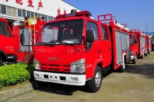 五十铃双排座ELF水罐消防车图片