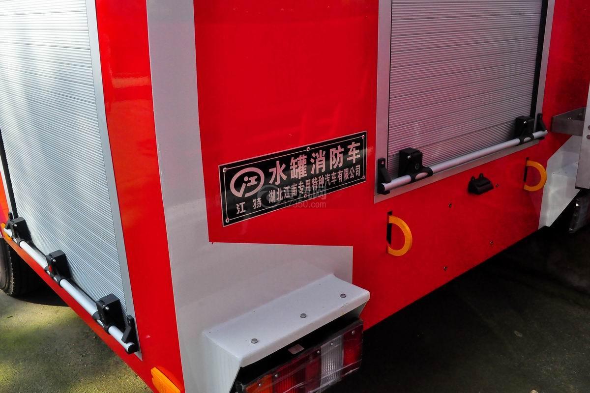 五十铃双排座ELF水罐消防车外观细节
