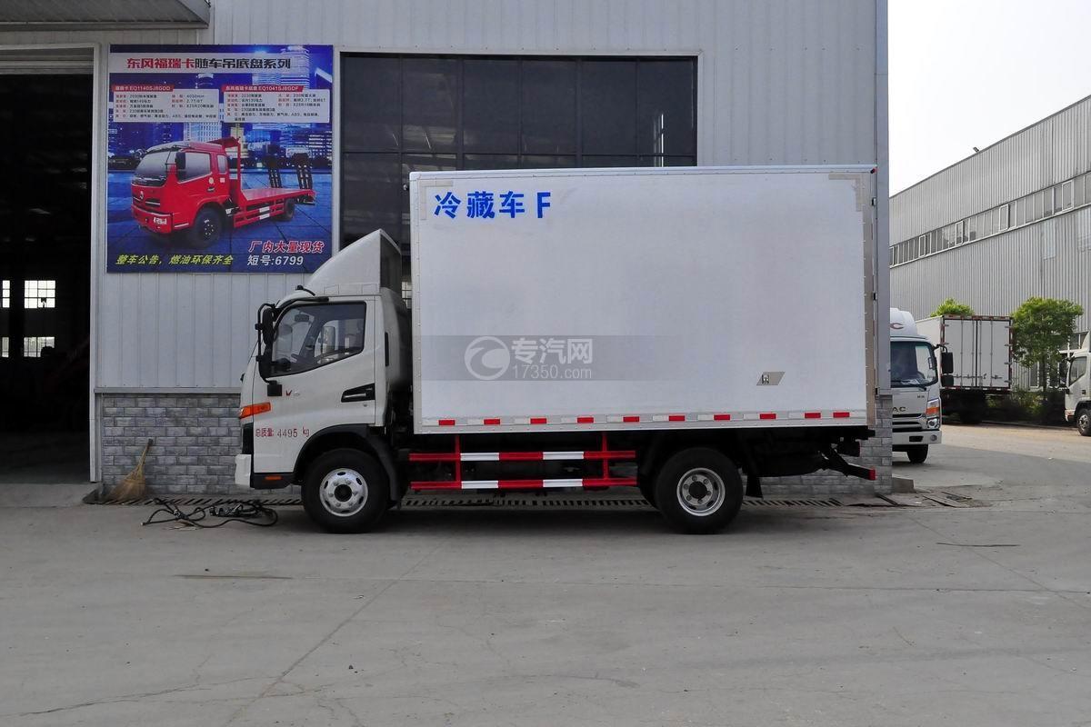 江淮骏铃V6冷藏车左侧图