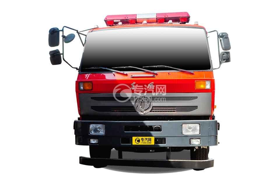 东风153双排座5.2方水罐消防车正面图