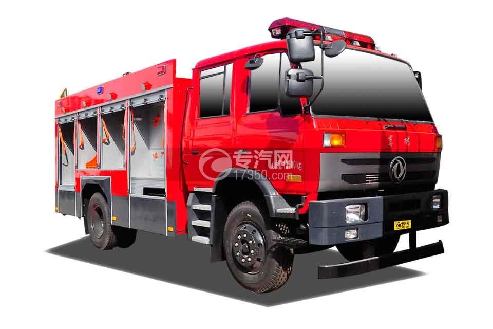 东风153双排座5.2方水罐消防车
