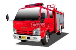 五十铃双排座ELF水罐消防车