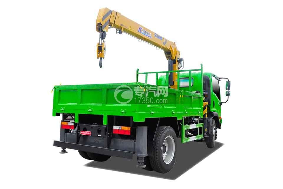大运奥普力蓝牌徐工4吨直臂随车吊(绿)右后45度图
