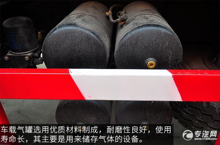 陕汽德龙F3000前四后八380马力自卸车储气筒