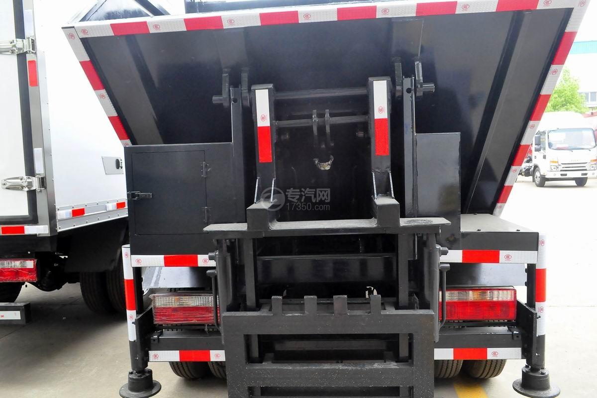 东风多利卡国六压缩式垃圾车上装配置