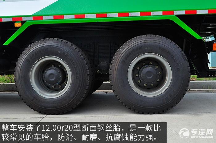陕汽德龙新M3000后双桥自卸车轮胎