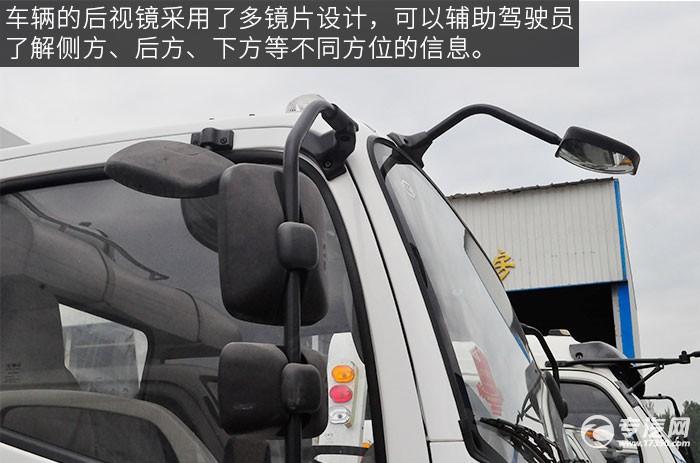 一汽青岛解放虎VH一拖二的清障车评测之外观后视镜