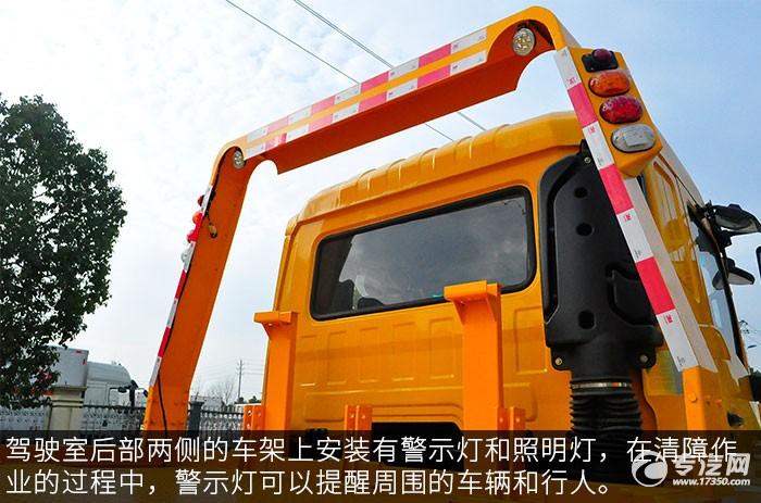 陕汽轩德X6一拖二平板清障车评测之综测警示灯