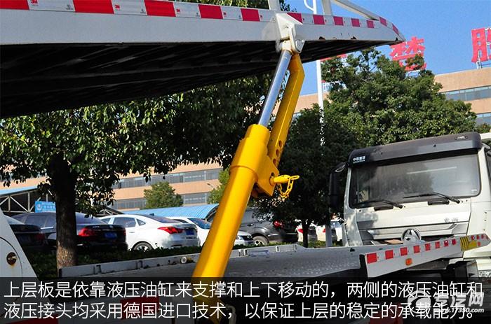 東風天錦一拖三清障車評測之綜測液壓油缸