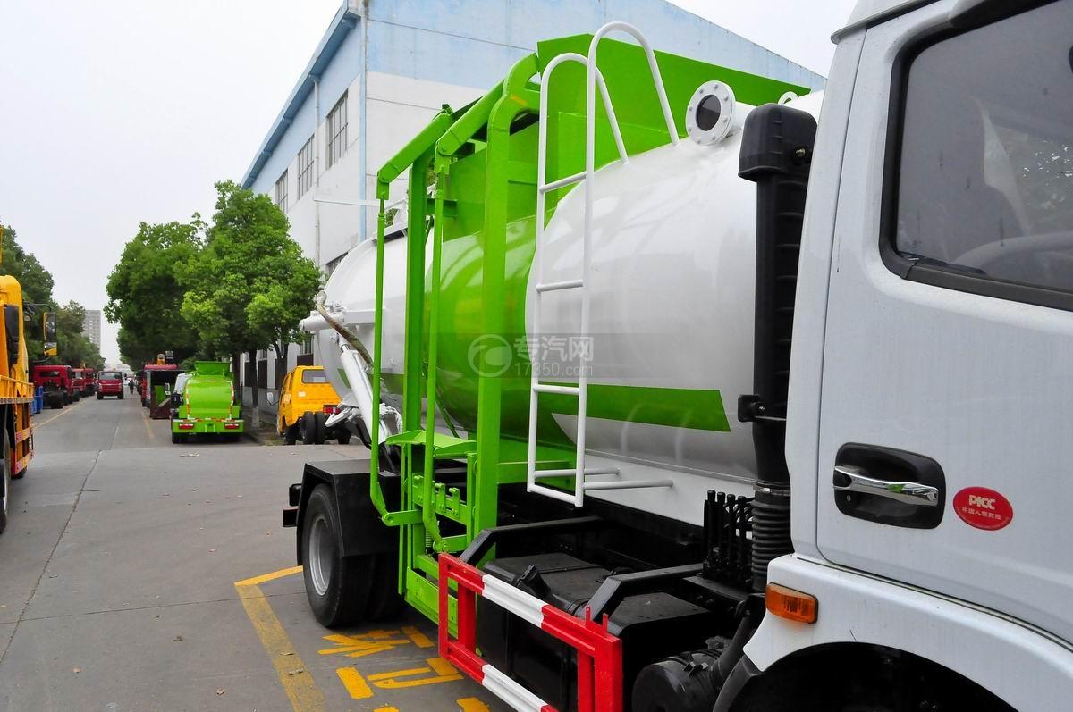 东风多利卡8方餐厨式垃圾车上料提升机构