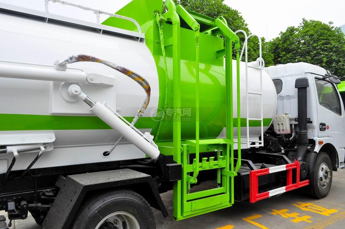 东风多利卡8方餐厨式垃圾车上料机构