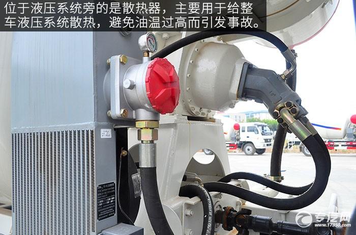 重汽王牌4方搅拌车评测之上装篇散热器