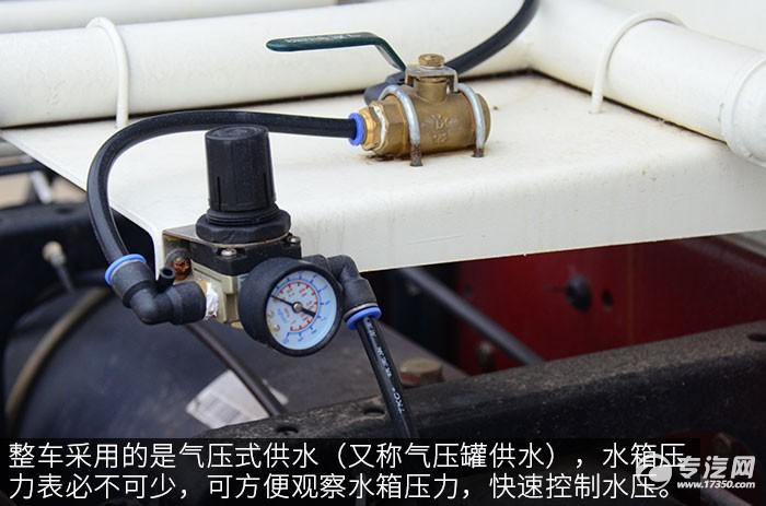 重汽王牌4方搅拌车评测之上装篇压力表