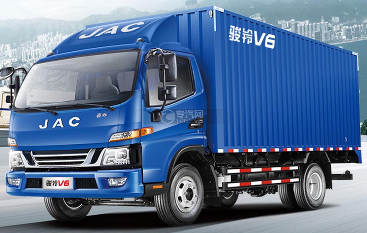 江淮骏铃V6单桥4.12米厢式货车图片