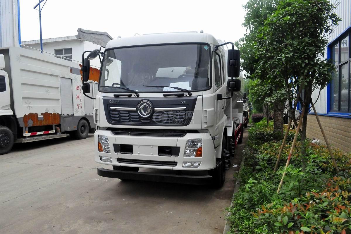 東風天錦VR小三軸散裝飼料運輸車左前45度圖