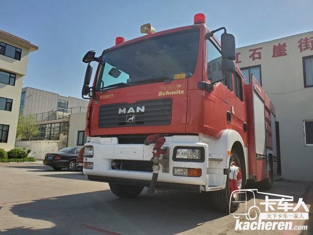 奥地利斯太尔工厂生产,带您见识一辆服役超10年的曼恩TGM消防车