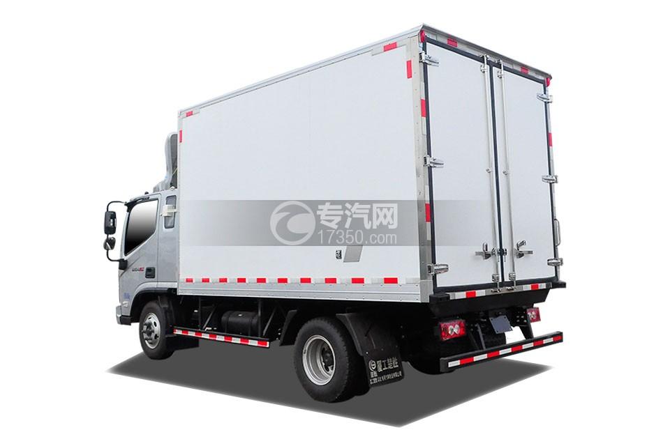 福田奧鈴CTS排半冷藏車左后圖