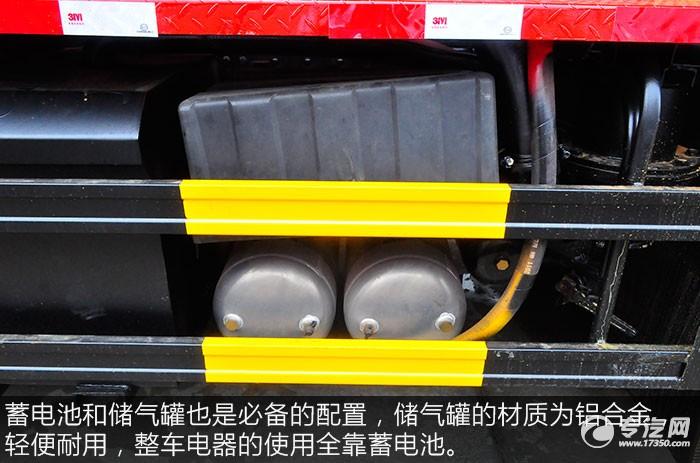 東風天龍前四后八清洗吸污車評測儲氣罐