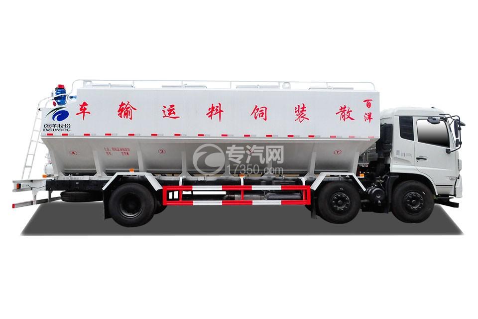 東風天錦VR小三軸散裝飼料運輸車側面圖