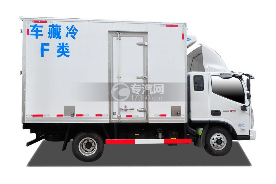福田奥铃捷运冷藏车右侧图
