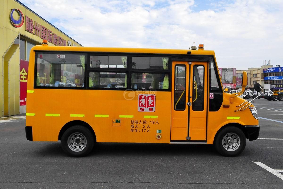 金龙海格19座幼儿专用校车侧面图