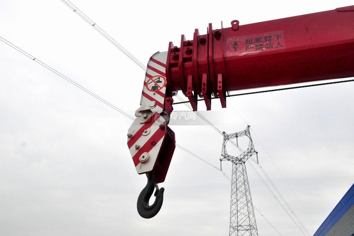 东风锦程V5前四后八20吨直臂随车吊吊机细节