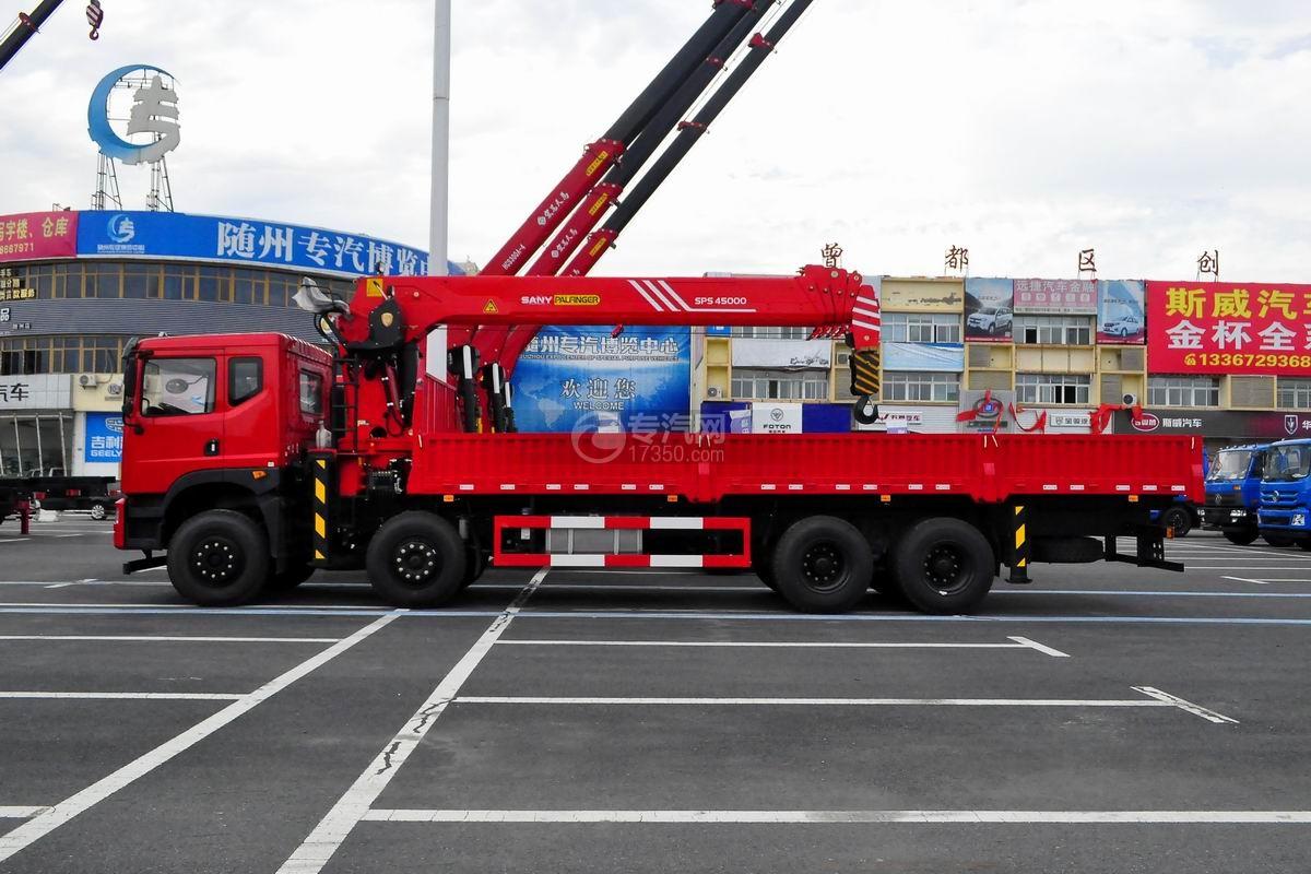 东风华神T5前四后八18吨直臂随车吊左侧图