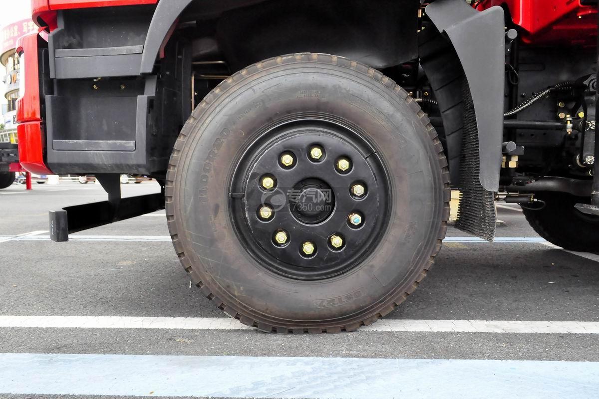 东风华神T5前四后八18吨直臂随车吊轮胎