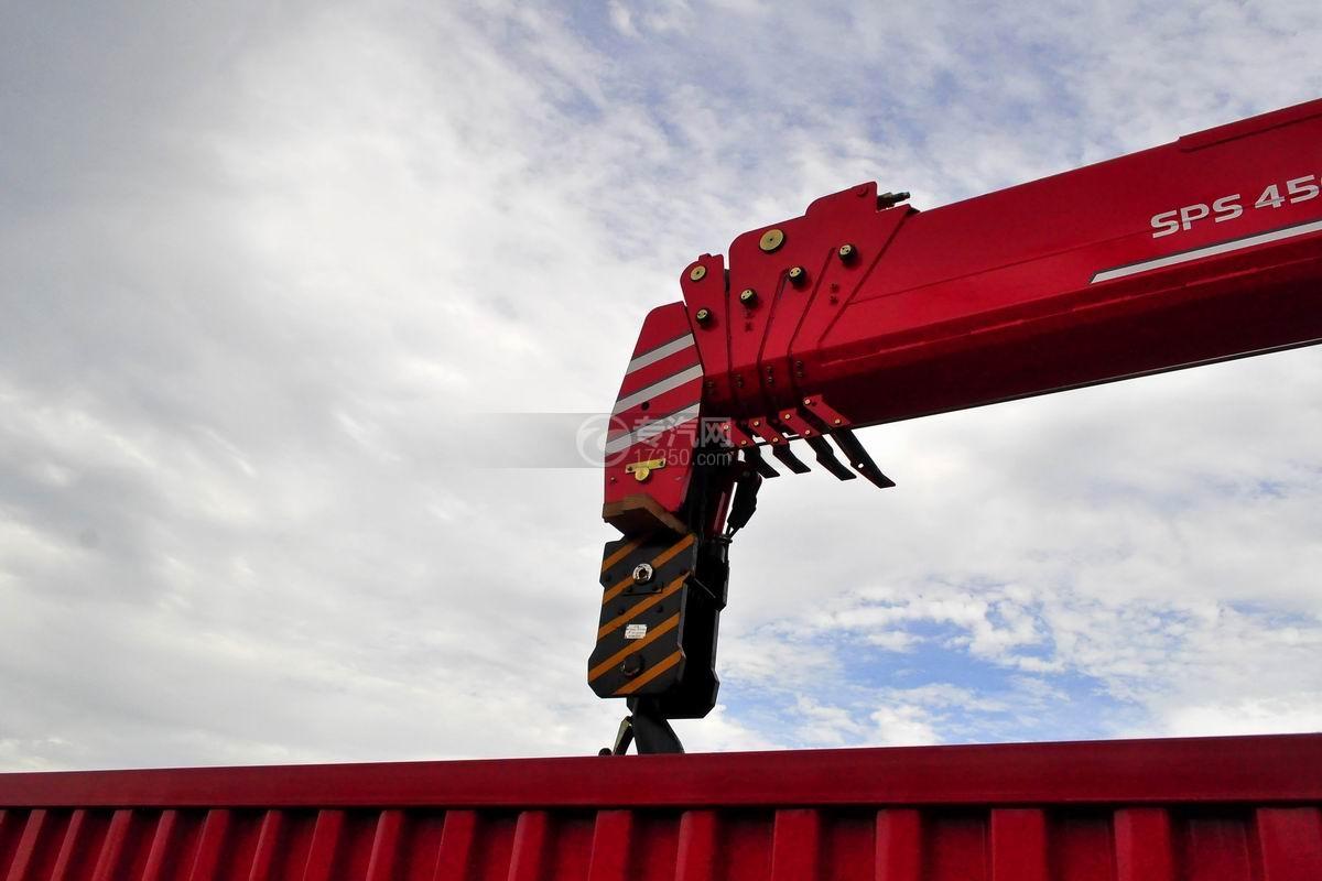东风华神T5前四后八18吨直臂随车吊吊机细节